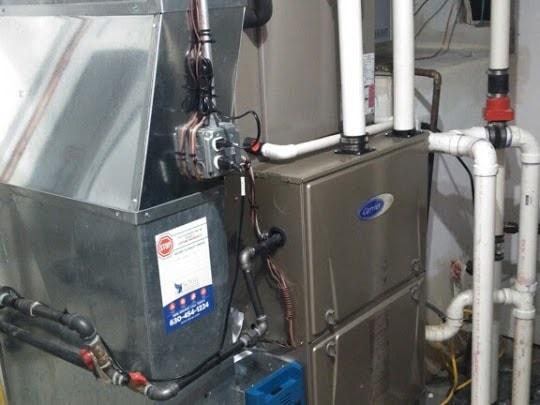 Carrier System Installation with Oxy4 Air Purifier and Steam Humidifer