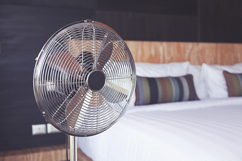 improve your home's indoor air quality, electric fan in room