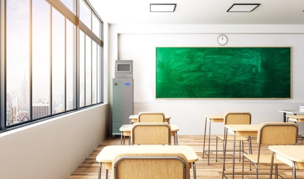 Bright classroom interior.